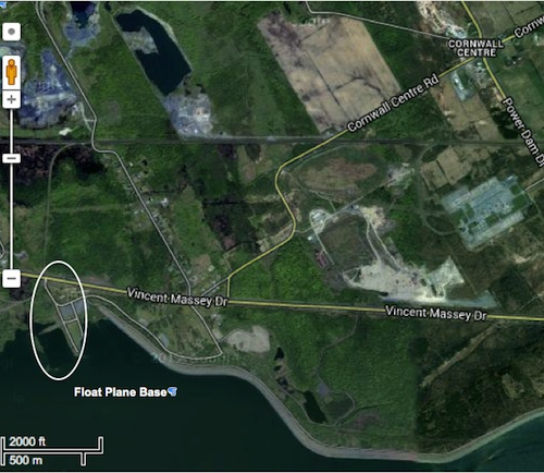 Map to Float Plane Base